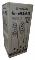 Колонки 2.0 REAL-EL S-2020 refurbished (Bluetooth, USB flash, FM, Karaoke, ДУ) - зображення 8