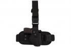 Кобура для ПМ - Макарова набедренная з платформою Cordura 1000 D Чорна Beneks - зображення 1