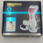 Епілятор жіночий 4 в 1 бритва пемза електробритва жіноча Gemei GM 7006 White (00427) - зображення 5
