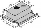 Вытяжка VENTOLUX GARDA 60 INOX (1100) SMD LED - изображение 7