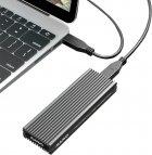 Зовнішня кишеня Maiwo для M.2 SSD NVMe (PCIe) / M.2 SSD SATA — USB 3.1 Type-C (K1687P2) - зображення 6