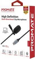 Микрофон Promate ClipMic-C USB Type-C Black (clipmic-c.black) - изображение 4