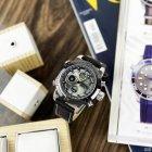 Часы наручные AMST 3022 Silver-Black Fluted Wristband - изображение 7