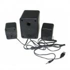 Компьютерные громкие комбинированные USB колонки для ПК, ноутбука, смартфона с акустической системой Hiraliy H1 Mini Speaker Стерео звук, Бас Чёрные с сабвуфером - изображение 4