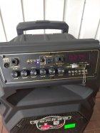 Профессиональная аккумуляторная акустическая система Temeisheng SL 10-08S колонка-чемодан с беспроводными микрофонами 150W - изображение 3