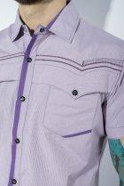 Рубашка в мелкую полоску Time of Style 199P0228 XL Сиренево-белый - изображение 6
