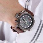 Наручные армейские часы АМСТ (AMST) коричневые - изображение 3
