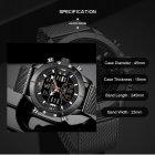 Чоловічі годинники Naviforce Tesla Black NF9153 - изображение 7