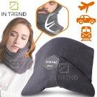 Подушка – шарф для шеи Travel Pillow для путешествий удобная мягкая дорожная подушка для сна в машину самолет поезд для детей и взрослых, Серый - изображение 1
