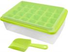 Форма для льда Kitchenio с контейнером и лопаткой Салатовая (2000992406338) - изображение 1
