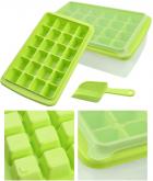Форма для льда Kitchenio с контейнером и лопаткой Салатовая (2000992406338) - изображение 2