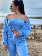 Спортивний костюм DNKA р41476 42-44 Блакитний (2000000572246_ELF) - зображення 3