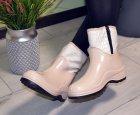 Ботинки полусапожки W-shoes 118b резиновые непромокаемые утепленные флисом по всей длине бежевые женские 37 (23.5 см) b-218 - изображение 4