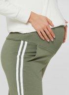 Спортивні штани з лампасами для вагітних Lullababе Lublin Хакі XXL - зображення 4