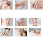 Роликовий ручний масажер 4D Massager 4 масажних кульки Сріблястий Оригінальний (ІВ - ОК1177) - зображення 5