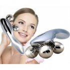 Ручной роликовый массажер 4D Massager 4 массажных шарика Серебристый - изображение 10