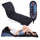 Масажний килимок Massage mat вібраційний 4 масажні зони (шия, спина, поперек, ноги) + прогрів Чорний (Арт.9347W) - зображення 1