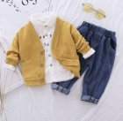 Дитячий комплект (сорочка+кардиган+джинси) 110см - зображення 1