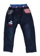 Теплые джинсы Mickey Mouse Hot Pet для мальчика 110 см Синие 5565 - изображение 1