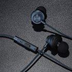 Проводные вакуумные стерео наушники Type-C (1.2м) гарнитура с влагозащитой IPx4 с микрофоном для телефонов смарфонов Plextone Stereo Bass (X56M) Navy - изображение 3