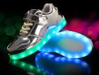 Кроссовки светящиеся липучка Silver Princess 28 - изображение 1