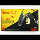 Конденсаторний студійний мікрофон M-800 PRO-MIC USB зі стійкою і вітрозахистом Чорний - зображення 3