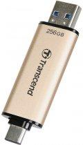 Transcend JetFlash 930C 256GB USB 3.2 / Type-C Gold-Black (TS256GJF930C) - зображення 3