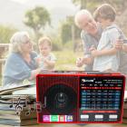 Цифрове міні радіо GOLON RX-8866 Радіоприймач всехвильовий портативний з телескопічною антеною з USB mp3, WMA бездротовий FM/AM мережевий і акумуляторний - зображення 1