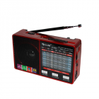 Цифрове міні радіо GOLON RX-8866 Радіоприймач всехвильовий портативний з телескопічною антеною з USB mp3, WMA бездротовий FM/AM мережевий і акумуляторний - зображення 4