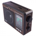 Цифровое мини радио GOLON RX-9966UAR Радиоприемник всеволновой портативный с телескопической антенной с USB mp3, WMA беспроводной FM/AM сетевой и аккумуляторный - изображение 5