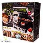 Электрический Гриль DSP KB 2000W профессиональный прижимной с функцией контроля температуры и антипригарным покрытием для приготовления мяса овощей и рыбы, Серебристый - изображение 7