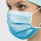 Медицинские маски Волес трехслойные голубые 50 шт (502209) - изображение 5