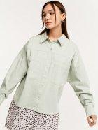 Джинсова сорочка Befree 2121037300-11 S Світло-зелена (4603375680332) - зображення 1