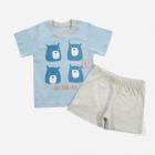 Пижама (футболка + шорты) Кена 207237-02 110 см Голубая (2007237021103) - изображение 1