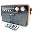 Радіо акумуляторне з Bluetooth і пультом управління Kemai Retro Brown - зображення 2
