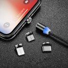 Магнитная зарядка кабель USB 3 в 1 Magnetic (X-Cable TP) для Android, Iphone, Type C Magnetic USB Cable Black - изображение 5
