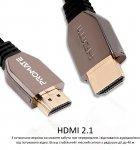 Кабель Promate ProLink8K-200 Black, HDMI v.2.1 — HDMI v.2.1, 2 м UltraHD-8K, 3D (prolink8k-200.black) - зображення 6