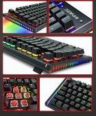 Игровая механическая проводная клавиатура ZUOYA Х61 с подсветкой RGB 87 клавиш Русский/Английский Синие переключатели (sv0264) - изображение 3