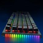 Игровая механическая проводная клавиатура ZUOYA Х61 с подсветкой RGB 87 клавиш Русский/Английский Синие переключатели (sv0264) - изображение 4