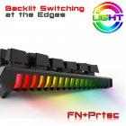 Игровая механическая проводная клавиатура ZUOYA Х61 с подсветкой RGB 87 клавиш Русский/Английский Синие переключатели (sv0264) - изображение 6