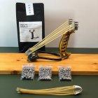 Металлическая охотничья рогатка для охоты DEXT Gold Pro 2.0 Базовый набор с локтевым упором и магнитным держателем - изображение 1