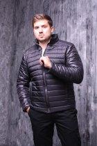 Куртка ZIBSTUDIO полоса комбинированная 6XL Чёрная (6157374) - изображение 2