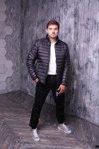 Куртка ZIBSTUDIO полоса комбинированная 6XL Чёрная (6157374) - изображение 4