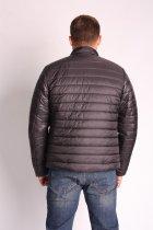 Куртка ZIBSTUDIO полоса комбинированная 6XL Чёрная (6157374) - изображение 7