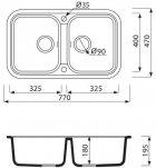 Гранитная кухонная мойка Grant Quadro белая - изображение 4