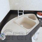 Гранітна плита, мийка Grant Elite кутова ivory - зображення 1