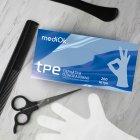 Перчатки Виниловые Неопудренные Тпэ MEDIOK Бесцветные XL (200 шт) - изображение 2