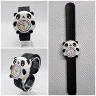 Часы детские White city наручные Панда силиконовые черные с белым - изображение 1