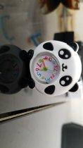 Часы детские White city наручные Панда силиконовые черные с белым - изображение 3
