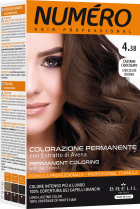 Краска для волос Brelil Professional Numero 4.38 Chocolate brown Горький шоколад 140 мл (8011935081349) - изображение 1